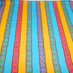 VTG Disney Pocahontas Striped Twin Flat Sheet